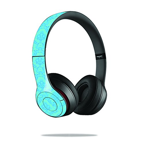 Mightyskins Protective Vinyl Skin Decal Cover For Dr. Dre Beats Solo2 Headphones Sticker Skins Blue Vintage