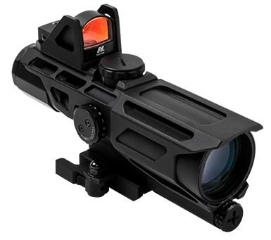 NcSTAR GEN3 Ultimate Sighting System USS 3-9X40mm P4 Sniper Riflescope w/ Red Micro Dot by NcSTAR