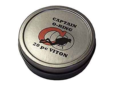 Captain O-Ring Deluxe 20pc VITON Save-A-Dive O-Ring Kit for Scuba Diving Tank Valves, Hoses, Regulators, Dive Cameras, Etc (Diver)