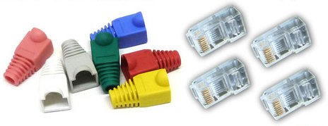 16-cat-5e-rj45-plugs-boots-for-network-patch-cables-crimp-connectors-lan