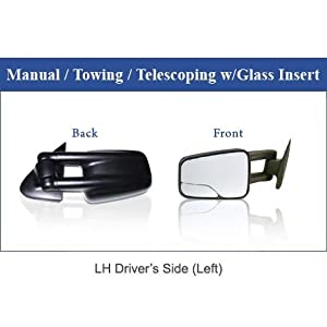 1999-2007 Chevy/GMC Silverado/Sierra Manual & Telescoping Camper Mirror LH (2000 2001 2002 2003 2004 2005 2006 )