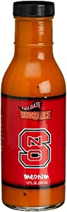 Tailgate North Carolina State Meduim Wing Sauce, 12-Ounce Glass Bottles (Pack of 6) from Tailgate
