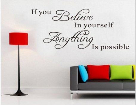 Meco(Tm) Hot Diy If You Believe In Yourself Quote Motto Wall Sticker Decor Home Removable front-429108