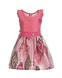 RoopRahasya Girls' Raw Silk Designer Dress Frock_PNXX118_2Y_Pink