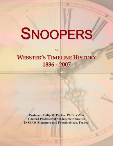 Snoopers: Webster's Timeline History, 1886 - 2007