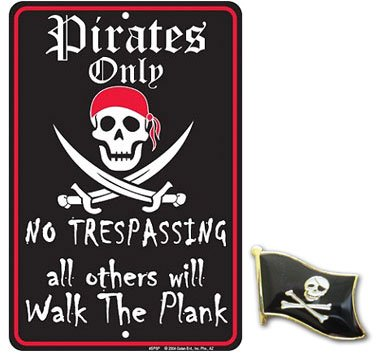 Toilet bathroom signs for home - Pirates Only No Trespassing All Others Will Walk The Plank