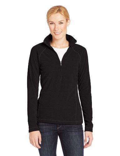 White Sierra Women's Alpha Beta Quarter Zip Fleece, Black, Medium
