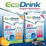 Ecodrink® Complete Multivitamin Drink Mix, 60 Packets 31 Highly Absorbable Vitamins, Minerals & Nutrients(berry )