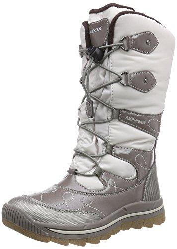 GeoxJ OVERLAND B GIRL AB - Stivali da neve, gamba lunga, imbottitura calda Ragazza , Beige (Beige (C1097OFF WHITE/TAUPE)), 29