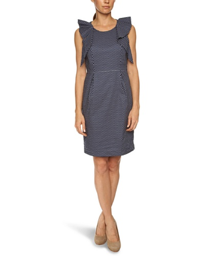 Fever Dotty Sleeveless Women's Dress Navy  12
