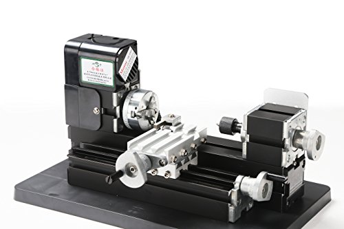 24W All Metal Mini Lathe, use 20,000r/min, 24W Motor ,mini lathe for students DIY Works, best gift for Chrildren's Gift. (Lathe Motor compare prices)