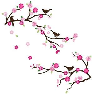 CherryCreek Decals Cherry Blossom & Birds Decorative Nursery/Room Wall Sticker Decals by Cherry Creek