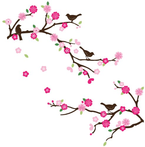 Blossoms and Branches Decorative Peel & Stick Wall Art Sticker Decals (Brown Flower Wall Decal Stickers compare prices)