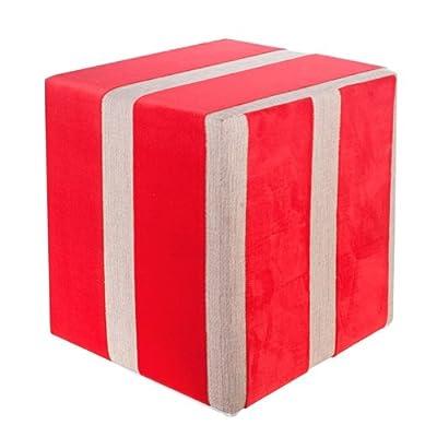 Sitzwürfel Stoff rot Maße: 35 cm x 35 cm x 42 cm von Kaikoon - Gartenmöbel von Du und Dein Garten
