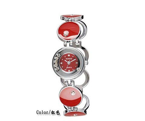 Ufingo-Korean Crystal Fashion Beautiful Popular Bracelet Wrist Watch For Ladies/Women/Girls-Red