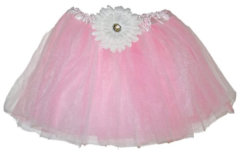 Pink Gerbera Flower Tutu Skirt 2-8 Yr 2T-10/12 Girls Birthday Party Costume front-967730