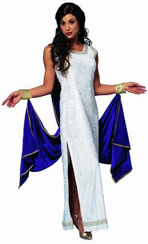 Adult Greek Goddess Costume with Purple Drape