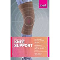 Mediven Seamless Knit Knee 60204 Support with Silicone Top Band, Large, Beige