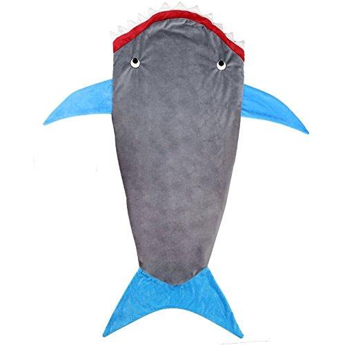 Janecrafts Kind Shark Hai Decke Flanell Tier geformt Mermaid Schwanz Blanket thumbnail
