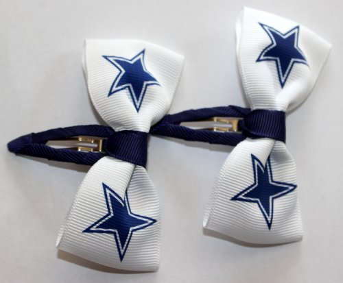 Set of Two Hair Clips - ALL 32 NFL TEAMS (Dallas Cowboys) at Amazon.com