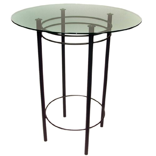 Trica Astro Counter Height Table With Glass Top, 36-1/8