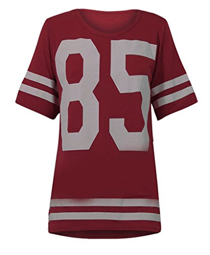 Encan Women's Casual Loose Baseball Jersey T-Shirt Number 85 (Jersey With Numbers compare prices)