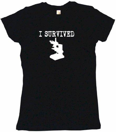 I Survived Science Microscope Women'S Tee Shirt Medium-Black Babydoll