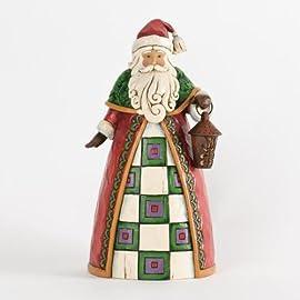 Jim Shore Santa Holding Lantern Classic Figurine
