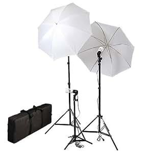 CowboyStudio Photography & Video Portrait Umbrella Continuous Triple Lighting Kit