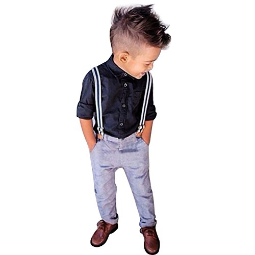 yizyif jungen baby bekleidungsset formal smoking anzug lang rmelige shirt tr gerhose outfits. Black Bedroom Furniture Sets. Home Design Ideas