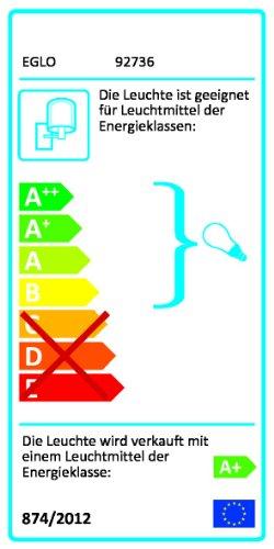 Eglo-Auen-Wandleuchte-Modell-Riga-LED-Edelstahl-GU10-LED-2x-25-Watt-Leuchtmittel-inklusive-Schutzklasse-IP-44-205-cm-hoch-92736