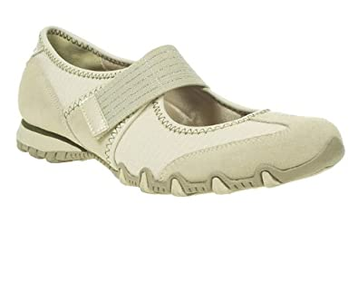 Skechers Womens Ladies Nude Bikers Epic Velcro Strap