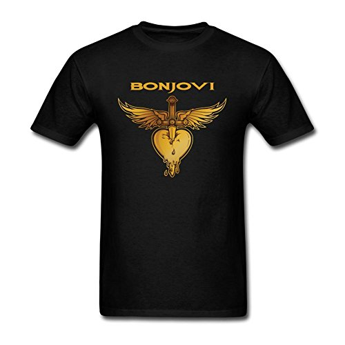 SWWM Men's Bon Jovi Short Sleeve Cotton T