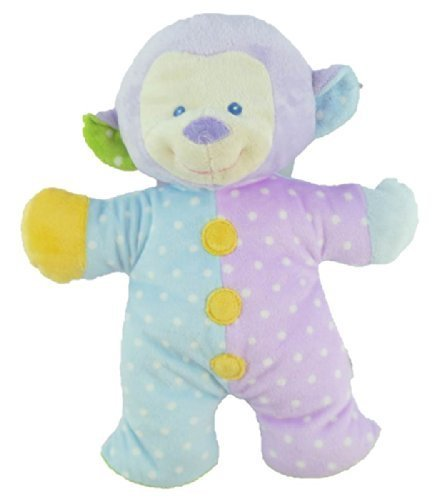"Baby Ganz 12"" Plush ""Snuggles"" Monkey Rattle - 1"