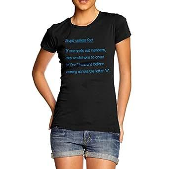 Amazon.com: Women Funny Message Print Useless Fact