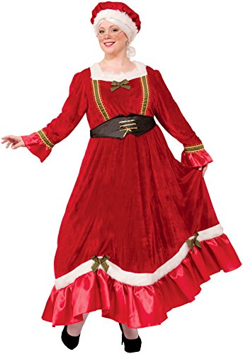 Forum Novelties Women's Plus Size Mrs. Claus Costume