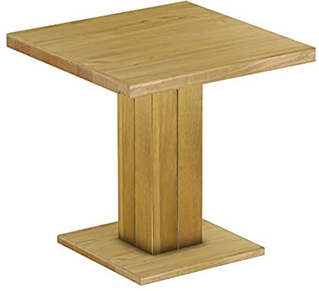 Rio Uno Brasil Restaurant Table, Solid Pine Wood Oiled and Waxed Size L x W x H: 80 x 80 x 78 cm