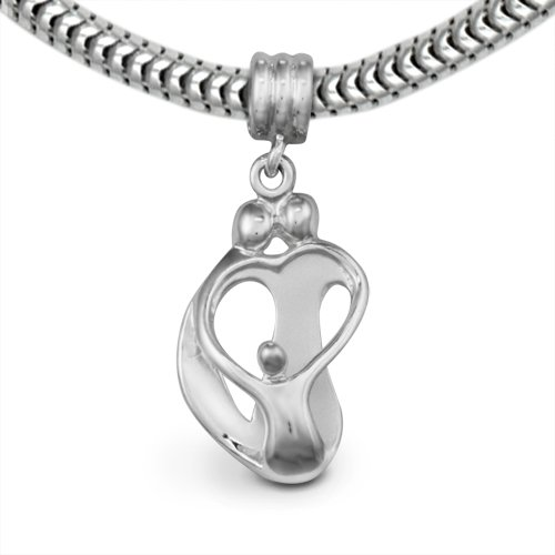 Loving Family® Sterling Silver Heart Charm Parents