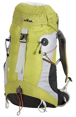Wilsa Rucksack Plume, leicht, ergonomisch, komfortabel, bequem, resistent, grün, perfekt für den Angriff, Mountainbiken oder Klettern
