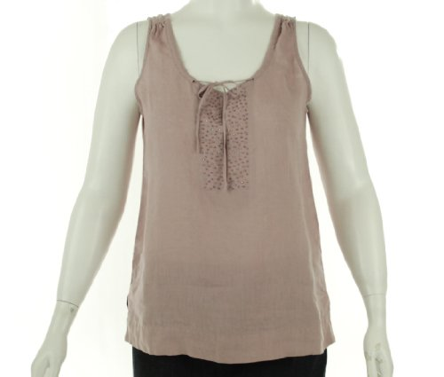 Eileen Fisher Split Neck Tank Sacht Medium