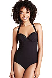 Underwired Bead Halterneck Swimsuit