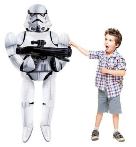 [Star Wars Stormtrooper Episode VII The Force Awakens Giant Gliding Balloon] (Baby State Trooper Costume)