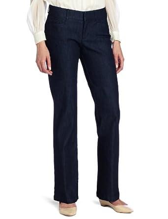 Dockers Women's Petite Denim Metro Trouser Pant, Denim,4