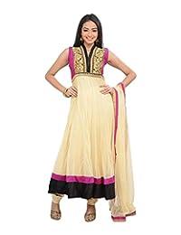 Sareeshut Women's Net Regular Fit Anarkali Suits - B00WQZ0LQ0