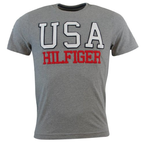 Tommy Hilfiger Mens Classic Fit Logo T-Shirt - Xs - Gray back-189671