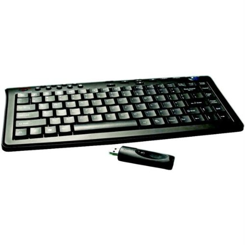 Grandtec KEY-3000 Rf Wireless Slim Mini Keyboard 2.4GHZ with Optical Trackball