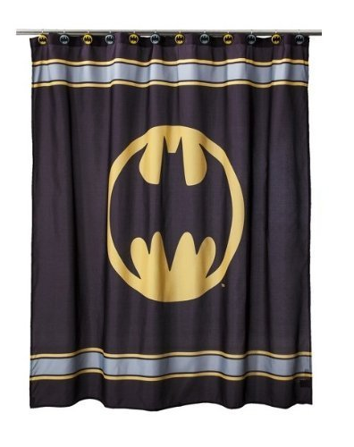DC Comics ~ Batman Fabric Shower Curtain