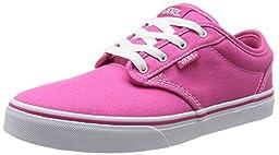 Vans Kids Atwood (Canvas) Magenta/White Skate Shoe 3 Kids US