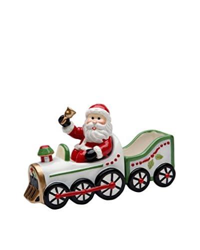 Cosmos Santa in Train Salt & Pepper Set with Sugar Pack Holder