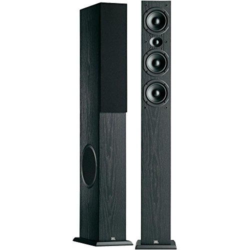 Fantastic Deal! JBL Loft 50 Three-Way Dual 6-1/2 Floorstanding Loudspeaker - Pair (Black)